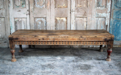19th Century Teak Thakat Day Bed Table, Patan, Gujarat <b>sold<b>